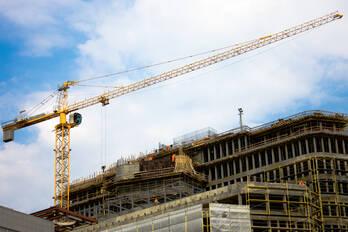 Überwachung der Baustelle